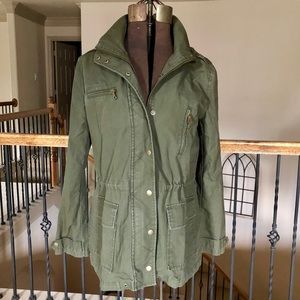 Banana Republic Army Green Utility Jacket